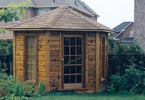 10' five-sided garden shed photo