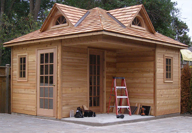 Cabana Village Plans - Pool House, Garden Shed and Cabin Designs